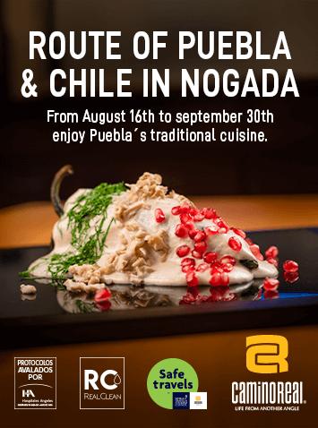 Route of Puebla and chile in nogada