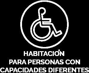 Habitación para personas con capacidades diferentes